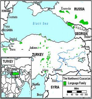 Kebanyakan orang Abaza tinggal di negara-negara Rusia dan Georgia